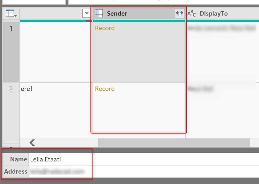 Power Query allows you to import email attachments